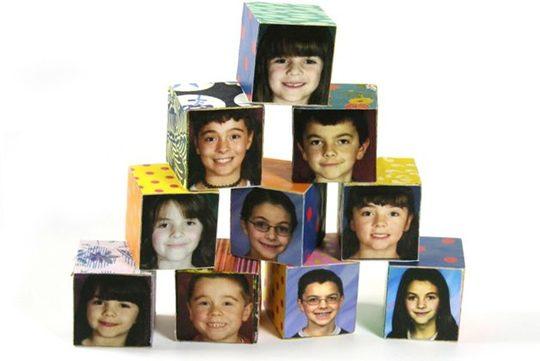 Cubos decorados con fotografías