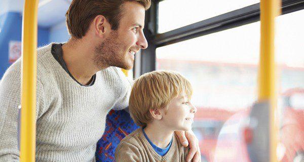 En el autobús urbano el niño será un ciudadano más