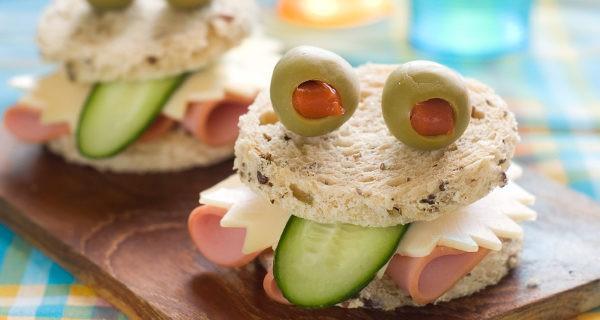 Estos sándwiches son muy sanos y divertidos