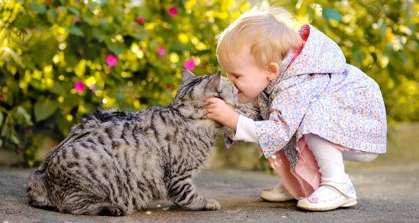 Es bueno que los niños aprendan desde pequeños a tratar con animales