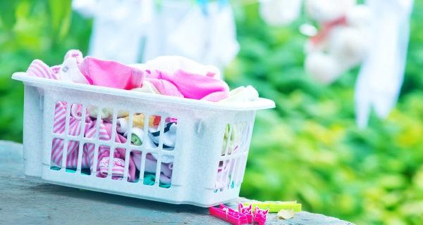 La colada de la ropa del bebé