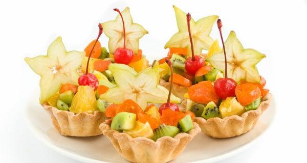 Canapes de frutas