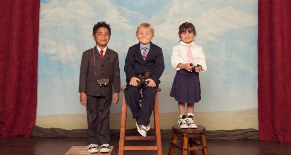Niños en clase de teatro