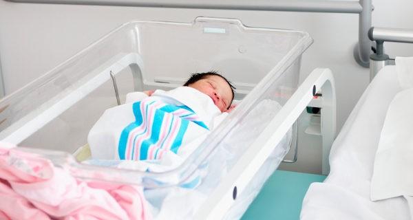 recién nacido en el hospital