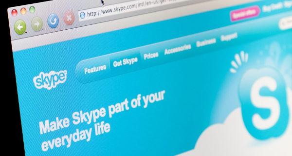 interfaz de Skype