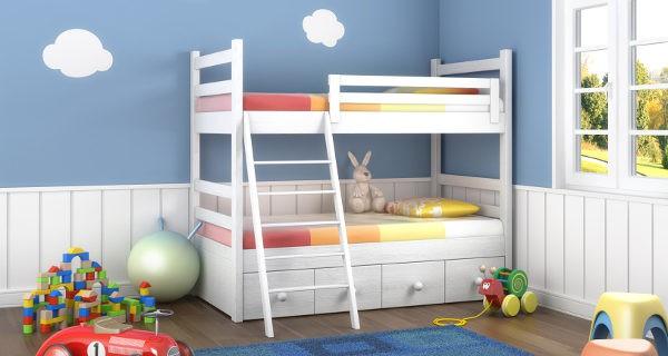 habitación con litera para niños
