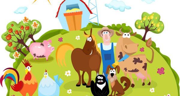 dibujo de una granja