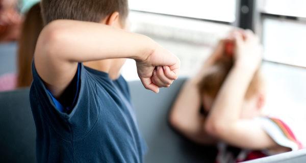 niño haciendo bullying