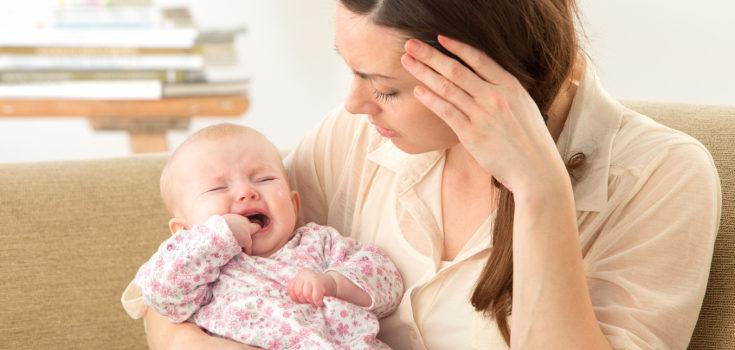 Si el bebé llora inconsolablemente puede tener algún problema de salud