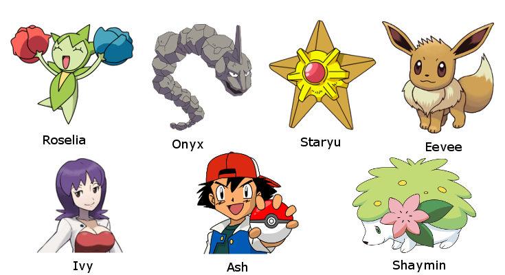 Nombres basados en Pokémon