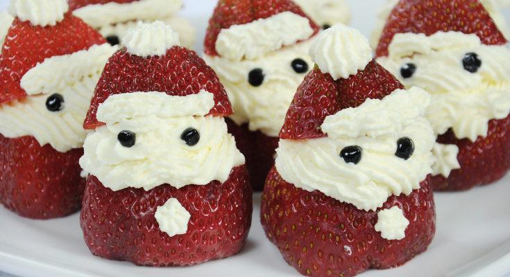 Estos Papá Noeles de fresas son super divertidos y ricos