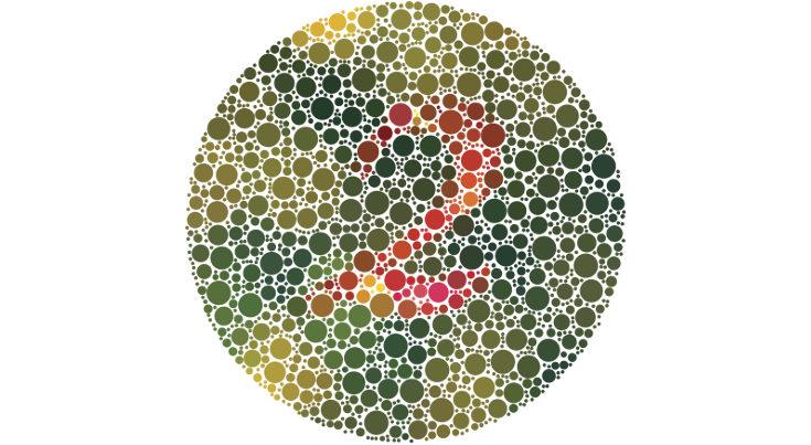 El daltonismo más común es el que hace confundir los tonos rojos y verdes