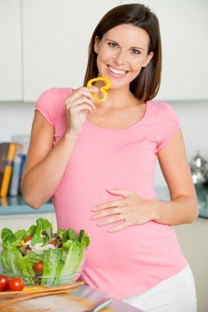 Alimentación sana de embarazada
