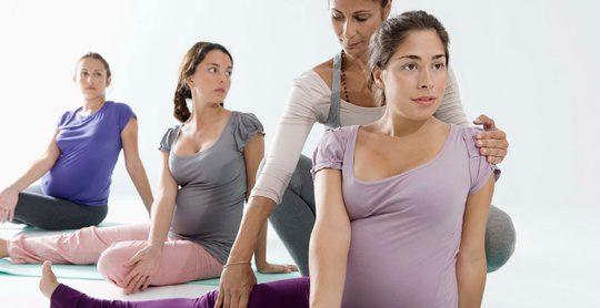 Mujeres en clases de preparación al parto