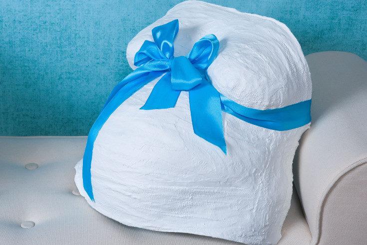 Muchas mujeres hacen moldes de yeso de su barriga como elemento decorativo
