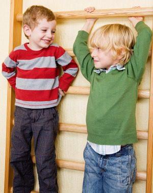 Dos niños amigos