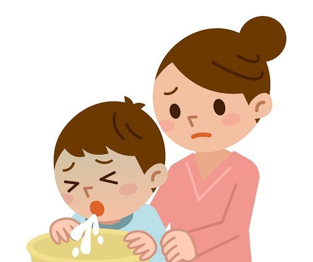 Cuando un niño vomita demasiado se puede sentir débil