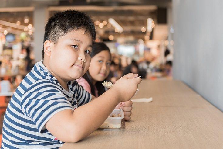 El tamaño de las porciones grandes también contribuye al aumento de peso infantil.