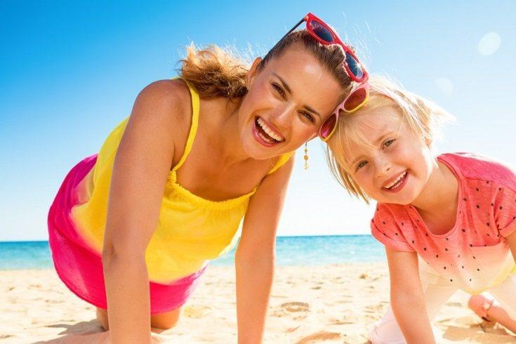 Para ir a la playa los miembros de la familia deben ir cómodos