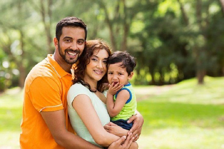 Las familias indias generalmente están dirigidas por el padre o el abuelo