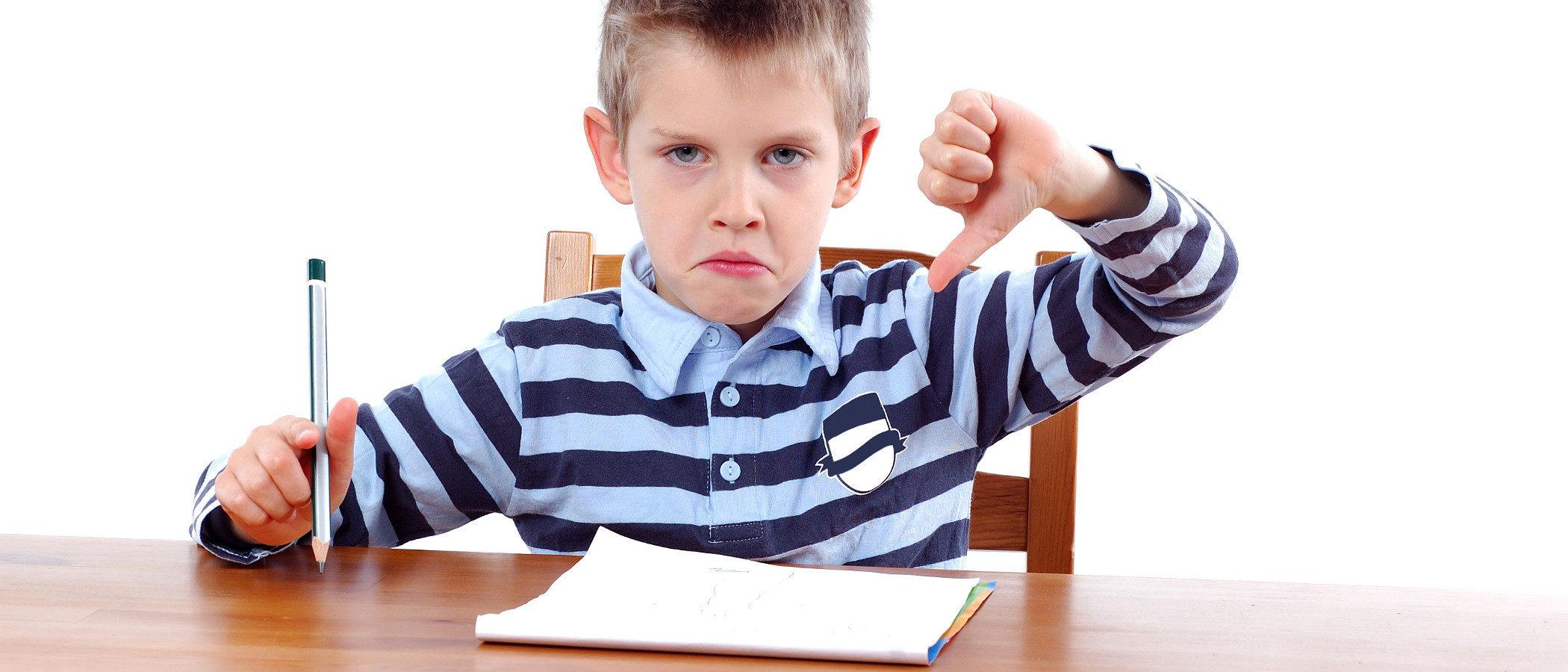 Niños con problemas de conducta en el colegio