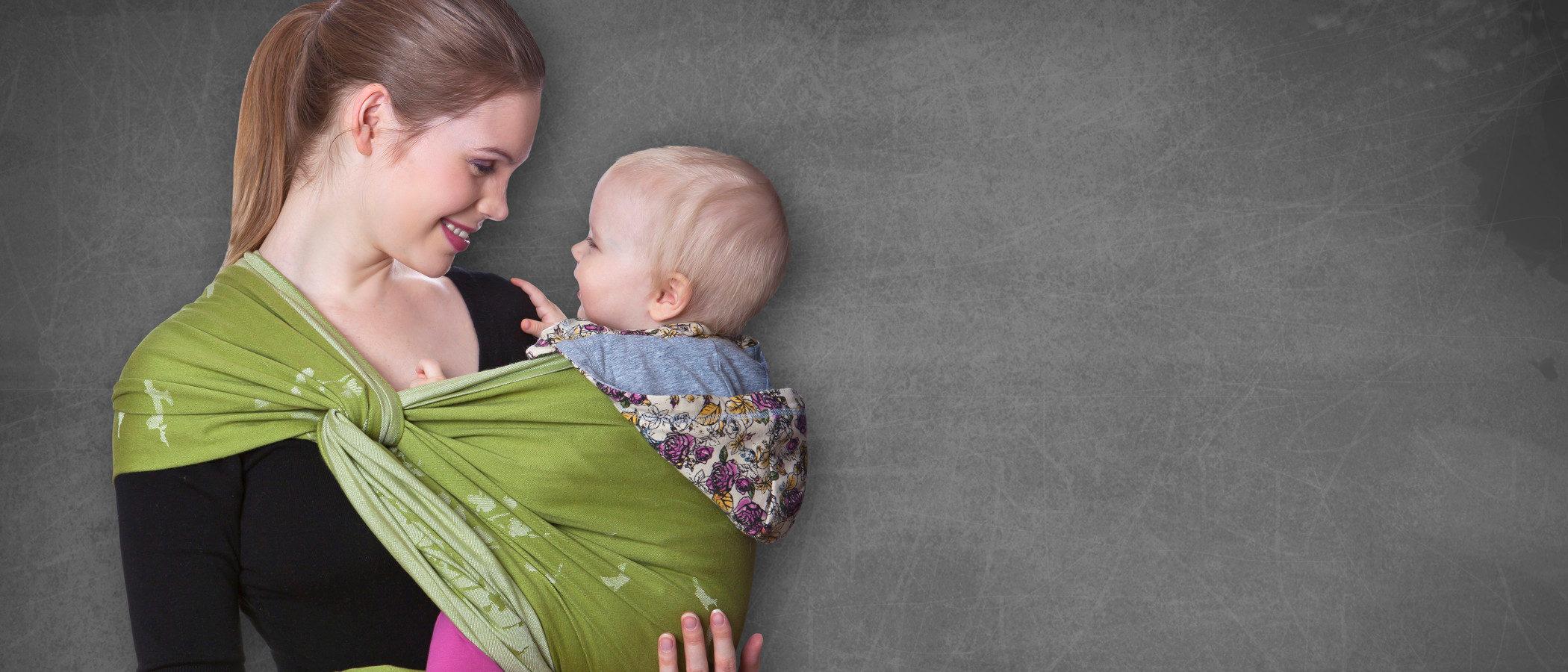 9 beneficios del fular portabebés