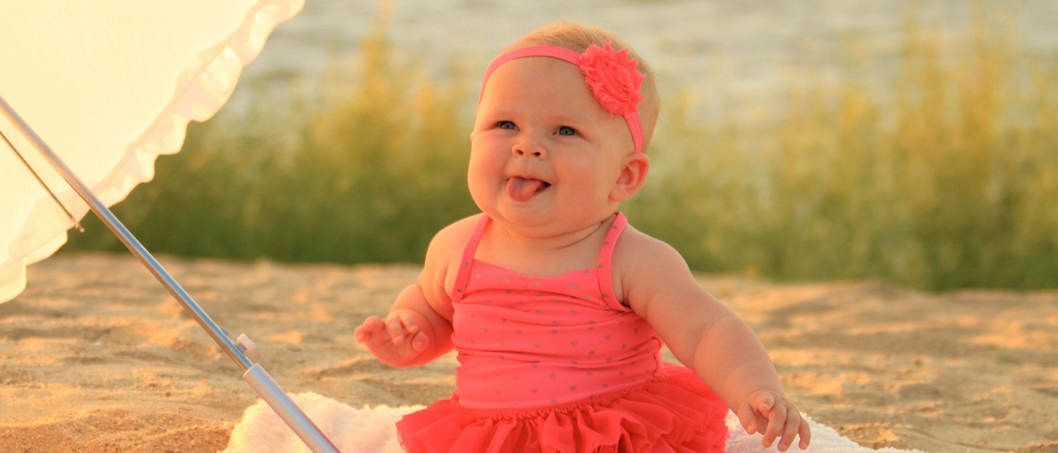 A qué edad podemos poner una diadema o cinta en nuestro bebé