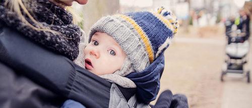 Consejos para portear a un bebé en invierno