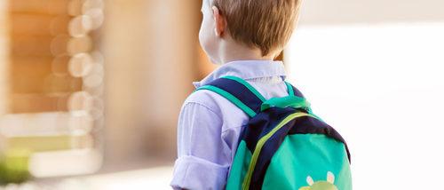 El primer día de colegio en preescolar