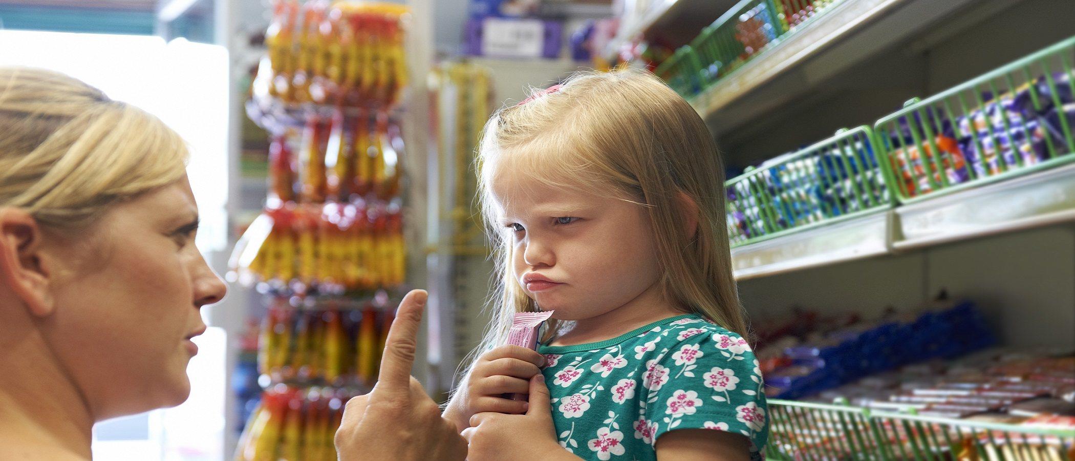 Evita las rabietas cuando estés en el supermercado