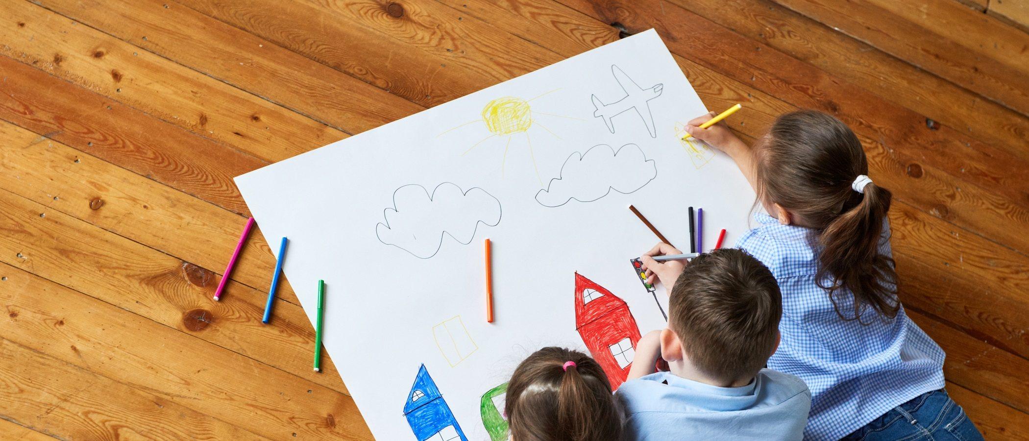 Los beneficios del arte en los niños pequeños
