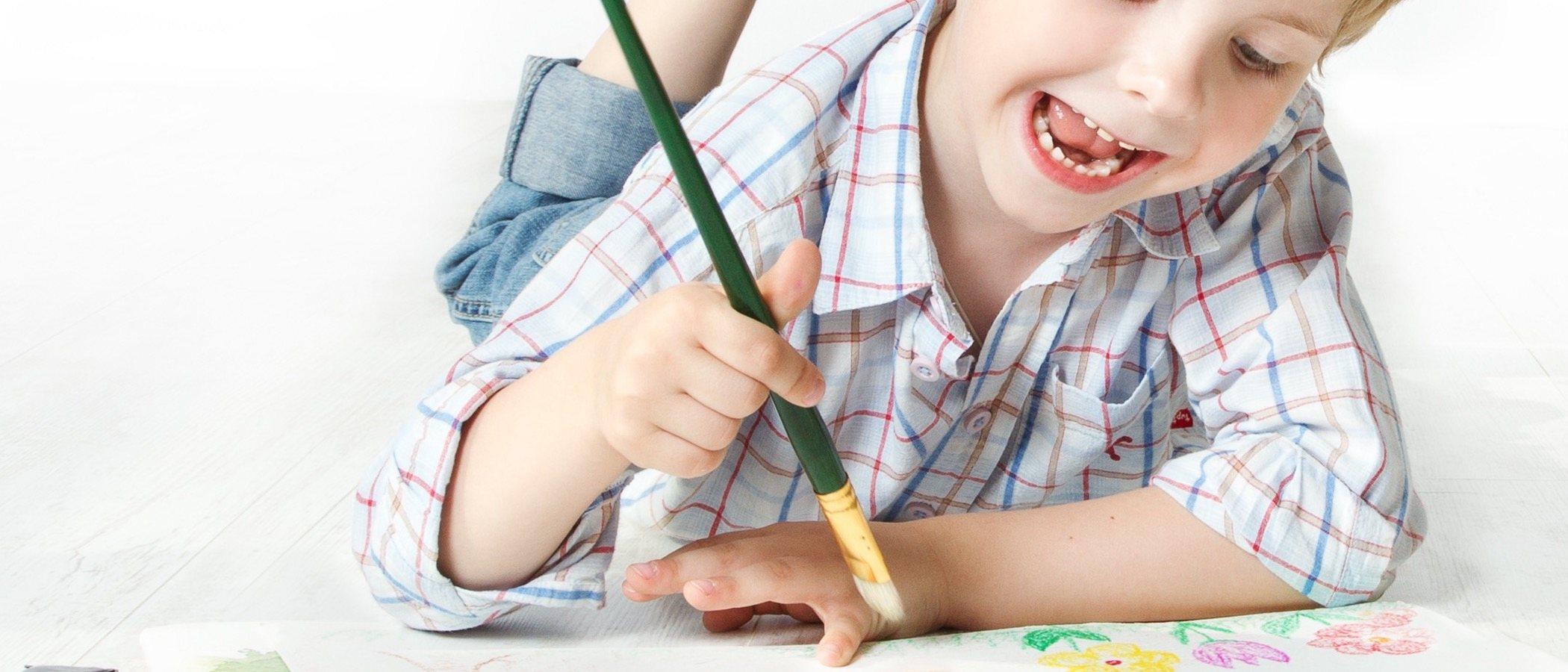 Cómo la pintura y el grafismo van unidos en la infancia