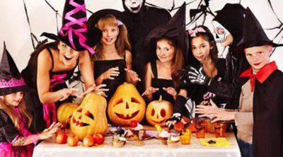 Decoración de Halloween con niños