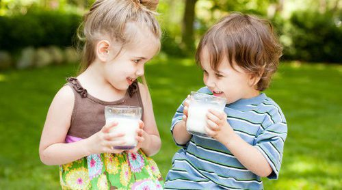 La leche en la dieta de los niños