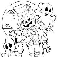 Espantapájaros de Halloween