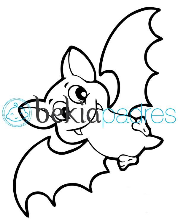 Murciélago sonriente para colorear