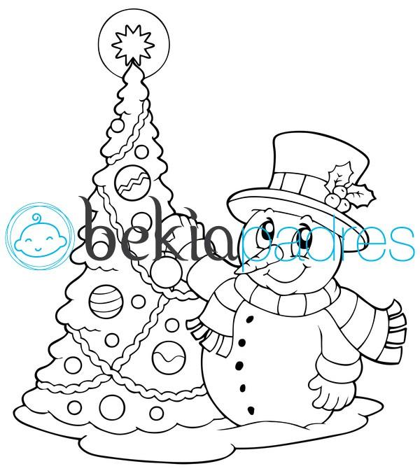 Dibujos Para Colorear Arbol De Navidad. Dibujo Para Colorear Arbol ...