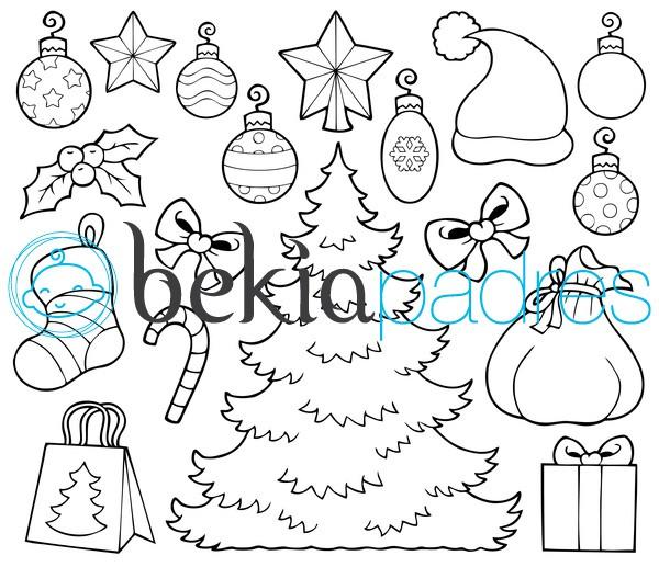 Árbol de Navidad para recortar y colorear: dibujo para colorear