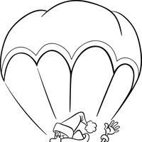 Papá Noel en paracaídas