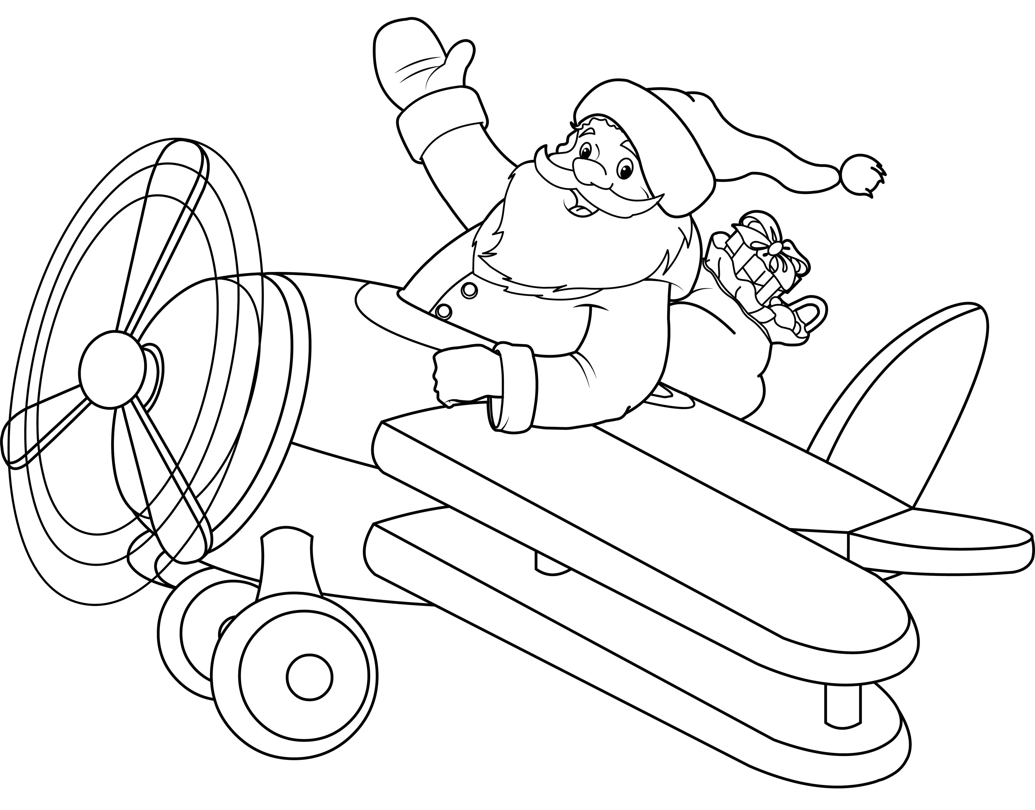 Papá Noel en avioneta