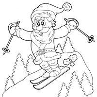 Papá Noel esquiando