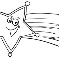 Estrella fugaz sonriente