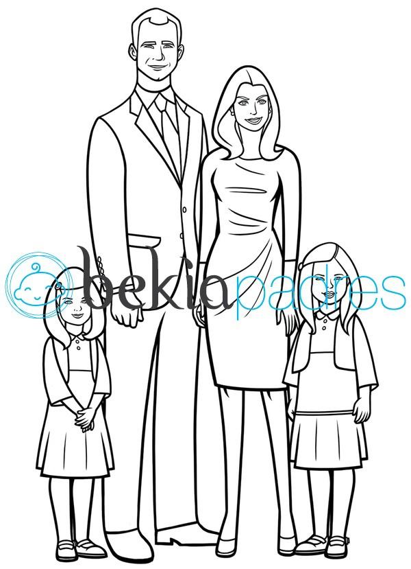 Príncipes Felipe y Letizia para colorear