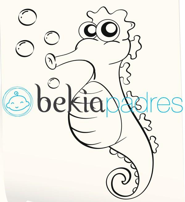 Caballito de Mar: dibujo para colorear