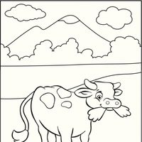 Vaca en la motaña