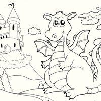 Dragón con castillo