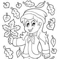 Niña en otoño