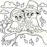 rbol con animales dibujo para colorear