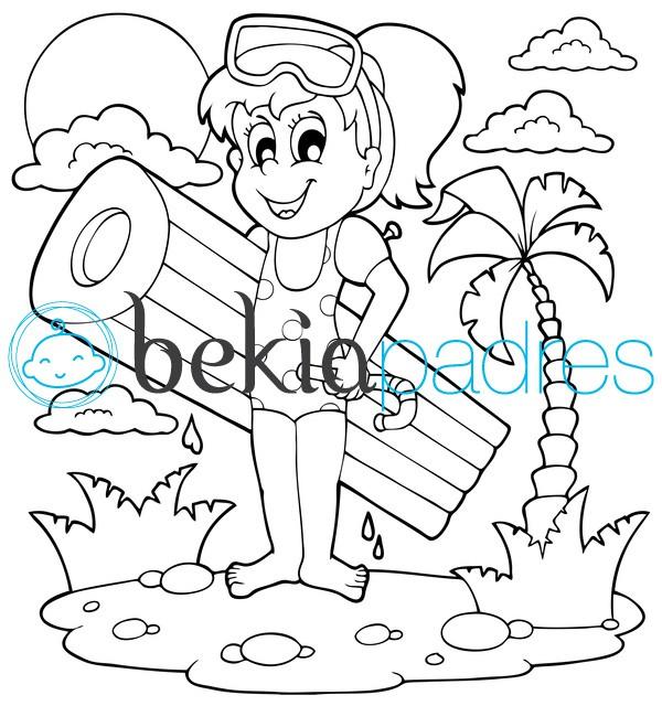 Dibujos Para Colorear De La Playa. Dibujos Para Colorear De La Playa ...