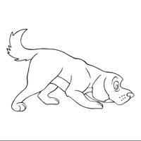Perro olisqueando